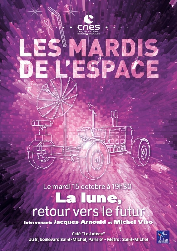 Affiche Mardi de l'Espace - Lune octobre 2019